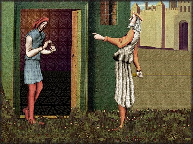 La chantefable Aucassin et Nicolette (XII ème et XIII ème siècle) (Illustré) Scene05a