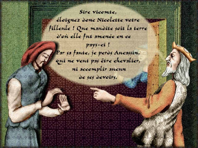 La chantefable Aucassin et Nicolette (XII ème et XIII ème siècle) (Illustré) Scene05b