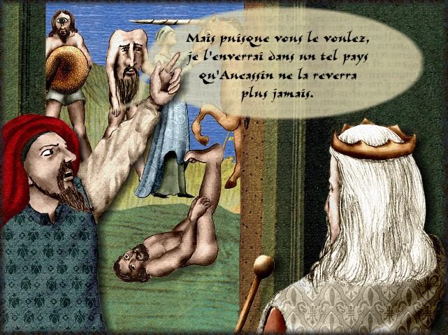 La chantefable Aucassin et Nicolette (XII ème et XIII ème siècle) (Illustré) Scene05d