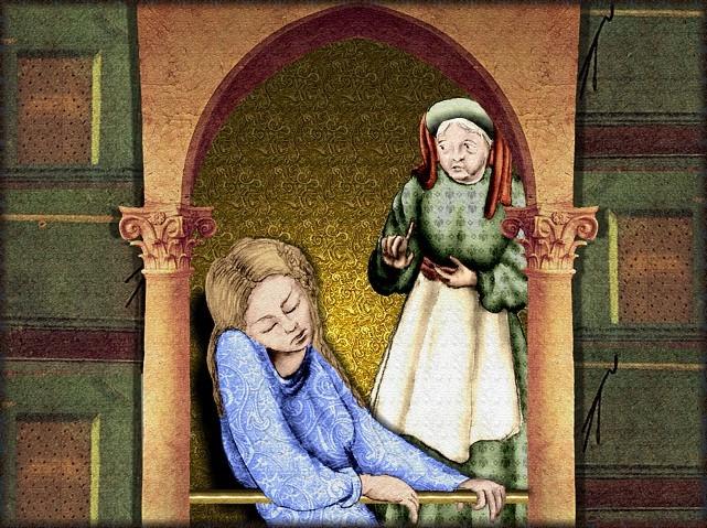 La chantefable Aucassin et Nicolette (XII ème et XIII ème siècle) (Illustré) Scene06