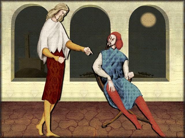 La chantefable Aucassin et Nicolette (XII ème et XIII ème siècle) (Illustré) Scene08a