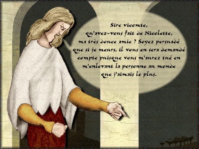 La chantefable Aucassin et Nicolette (XII ème et XIII ème siècle) (Illustré) Scene08b