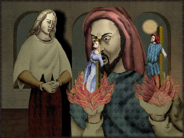 La chantefable Aucassin et Nicolette (XII ème et XIII ème siècle) (Illustré) Scene08g