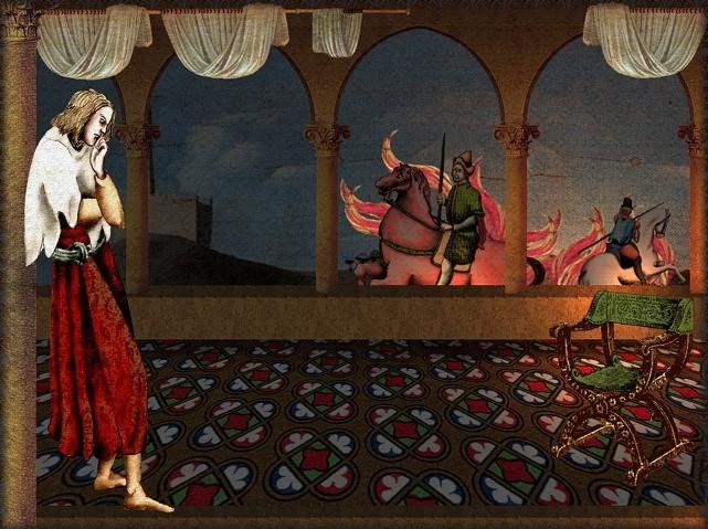 La chantefable Aucassin et Nicolette (XII ème et XIII ème siècle) (Illustré) Scene09a