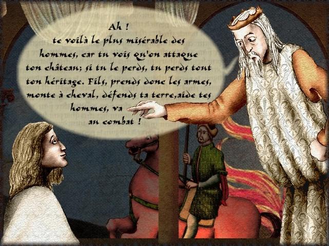 La chantefable Aucassin et Nicolette (XII ème et XIII ème siècle) (Illustré) Scene09c