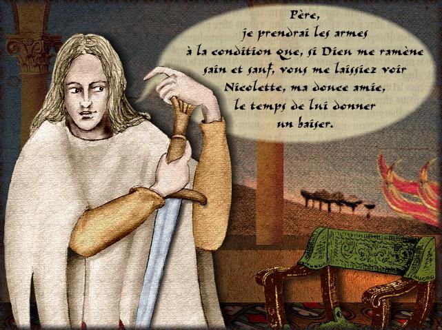 La chantefable Aucassin et Nicolette (XII ème et XIII ème siècle) (Illustré) Scene09d