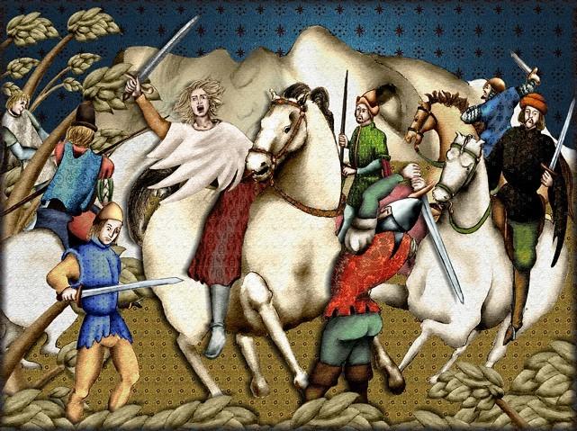 La chantefable Aucassin et Nicolette (XII ème et XIII ème siècle) (Illustré) Scene10g