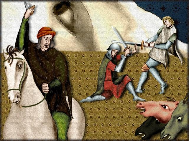 La chantefable Aucassin et Nicolette (XII ème et XIII ème siècle) (Illustré) Scene10h