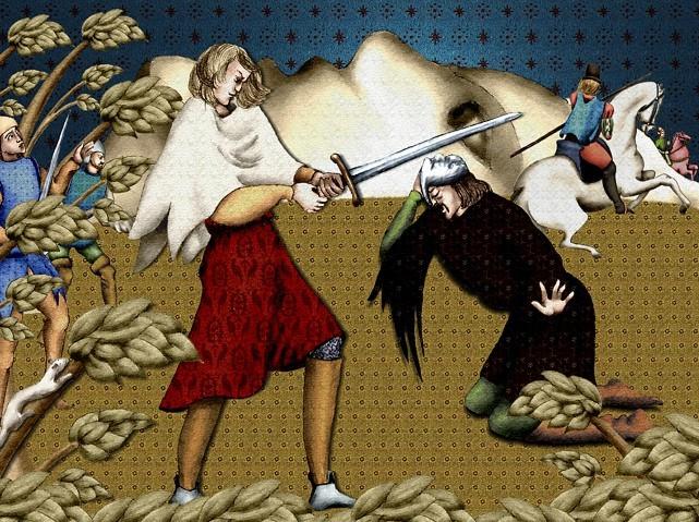 La chantefable Aucassin et Nicolette (XII ème et XIII ème siècle) (Illustré) Scene10i