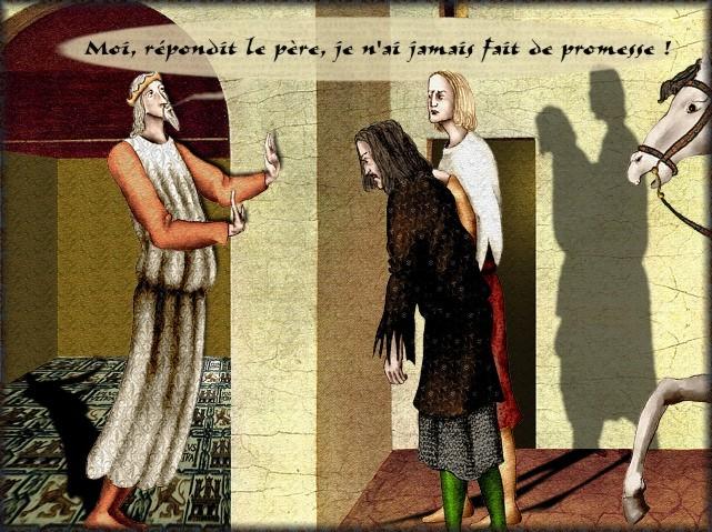 La chantefable Aucassin et Nicolette (XII ème et XIII ème siècle) (Illustré) Scene12b