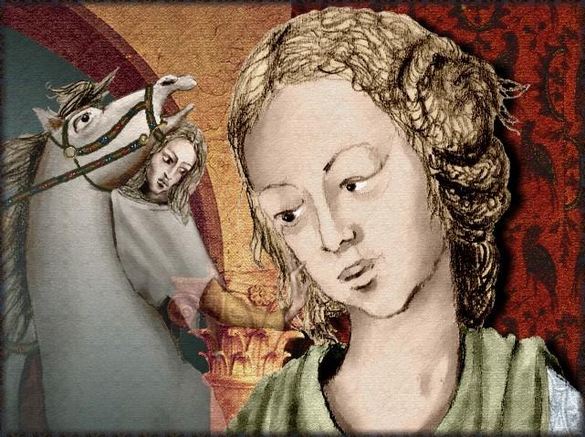 La chantefable Aucassin et Nicolette (XII ème et XIII ème siècle) (Illustré) Scene13d