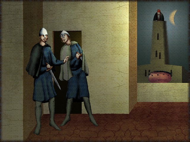 La chantefable Aucassin et Nicolette (XII ème et XIII ème siècle) (Illustré) Scene16a