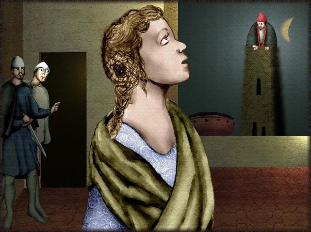 La chantefable Aucassin et Nicolette (XII ème et XIII ème siècle) (Illustré) Scene16f