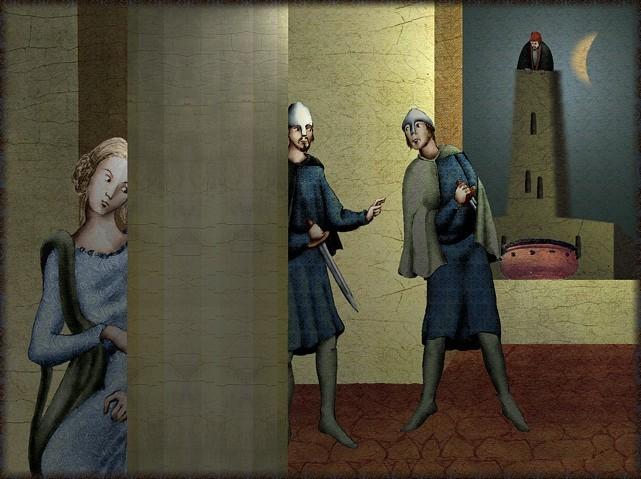 La chantefable Aucassin et Nicolette (XII ème et XIII ème siècle) (Illustré) Scene16h