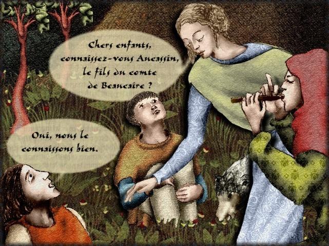La chantefable Aucassin et Nicolette (XII ème et XIII ème siècle) (Illustré) Scene18c