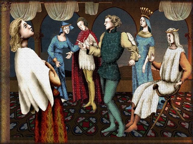 La chantefable Aucassin et Nicolette (XII ème et XIII ème siècle) (Illustré) Scene21a