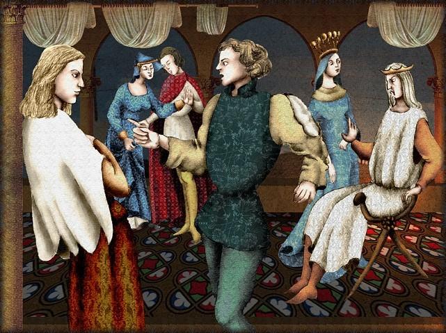 La chantefable Aucassin et Nicolette (XII ème et XIII ème siècle) (Illustré) Scene21b