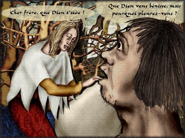 La chantefable Aucassin et Nicolette (XII ème et XIII ème siècle) (Illustré) Scene23b