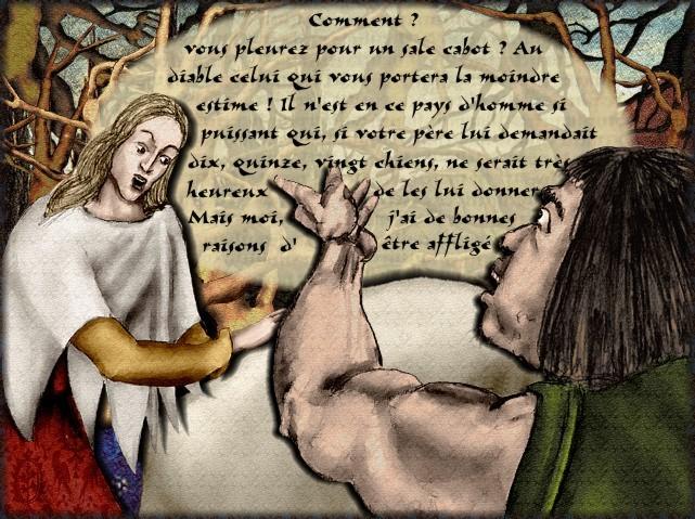La chantefable Aucassin et Nicolette (XII ème et XIII ème siècle) (Illustré) Scene23d