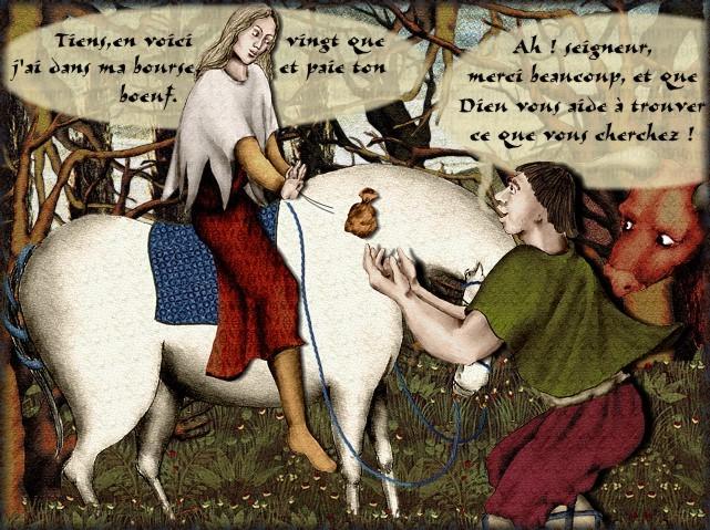La chantefable Aucassin et Nicolette (XII ème et XIII ème siècle) (Illustré) Scene23i