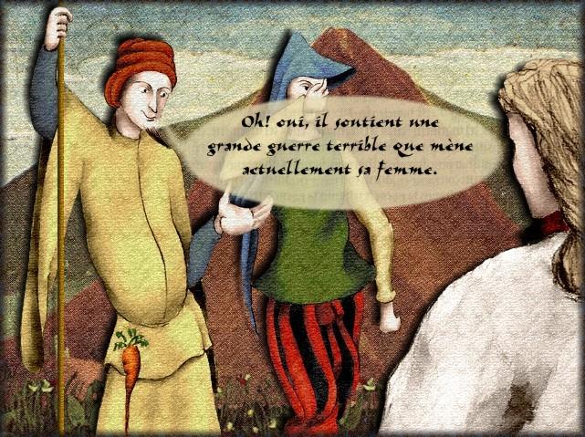 La chantefable Aucassin et Nicolette (XII ème et XIII ème siècle) (Illustré) Scene27b