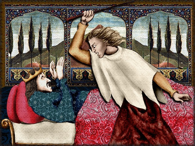 La chantefable Aucassin et Nicolette (XII ème et XIII ème siècle) (Illustré) Scene28d