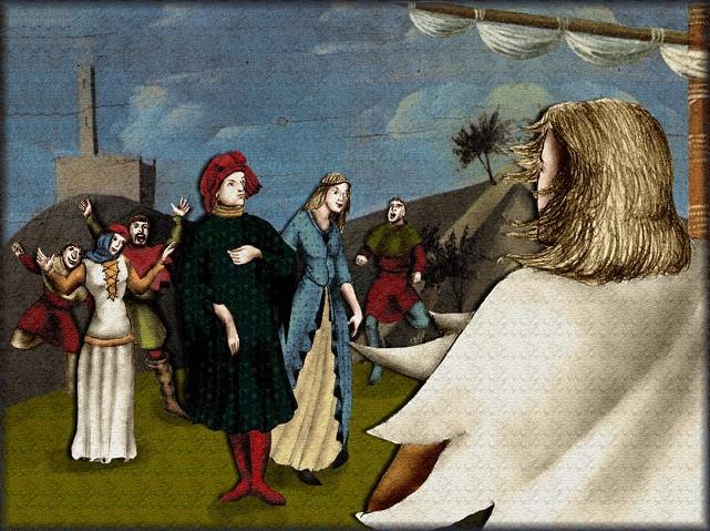 La chantefable Aucassin et Nicolette (XII ème et XIII ème siècle) (Illustré) Scene32