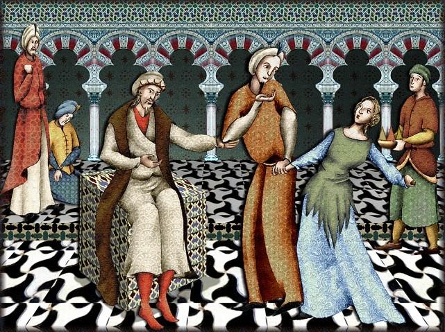La chantefable Aucassin et Nicolette (XII ème et XIII ème siècle) (Illustré) Scene33b