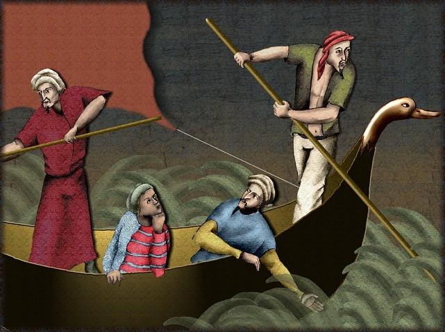 La chantefable Aucassin et Nicolette (XII ème et XIII ème siècle) (Illustré) Scene35