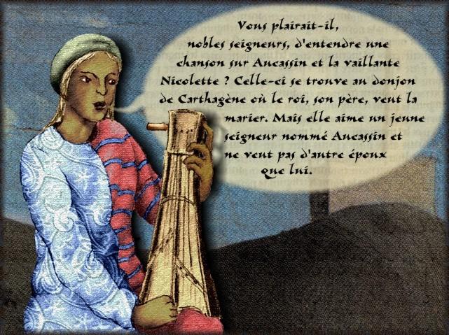 La chantefable Aucassin et Nicolette (XII ème et XIII ème siècle) (Illustré) Scene36b