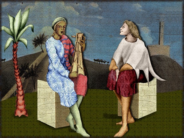 La chantefable Aucassin et Nicolette (XII ème et XIII ème siècle) (Illustré) Scene36c