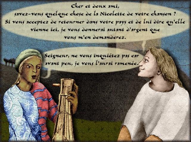 La chantefable Aucassin et Nicolette (XII ème et XIII ème siècle) (Illustré) Scene36d