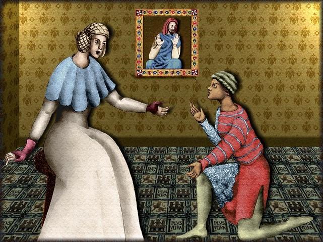 La chantefable Aucassin et Nicolette (XII ème et XIII ème siècle) (Illustré) Scene37a