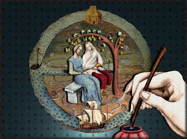 La chantefable Aucassin et Nicolette (XII ème et XIII ème siècle) (Illustré) Scene39c
