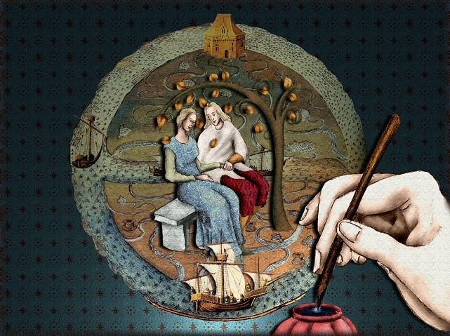 La chantefable Aucassin et Nicolette (XII ème et XIII ème siècle) (Illustré) Scene39d